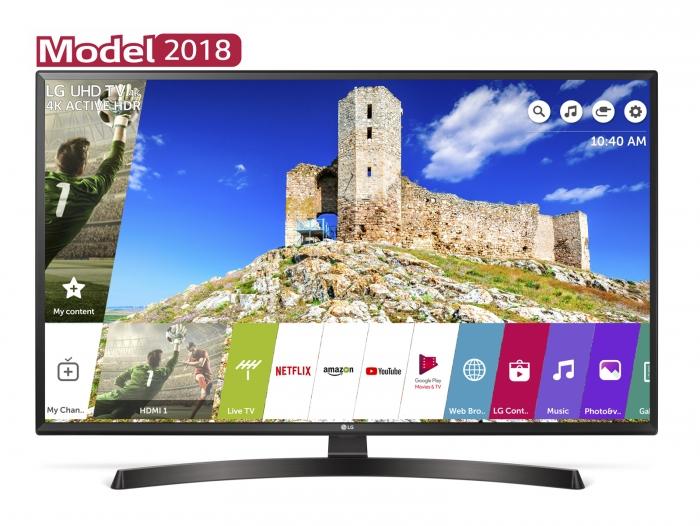 Televizor LED Smart LG, 108 cm, 43UK6470PLC
