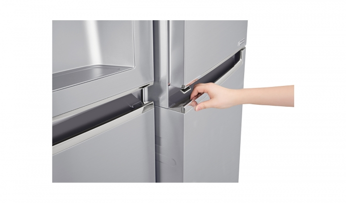 Side by side LG Door in Door GSJ961NEBZ No Frost, 600 l