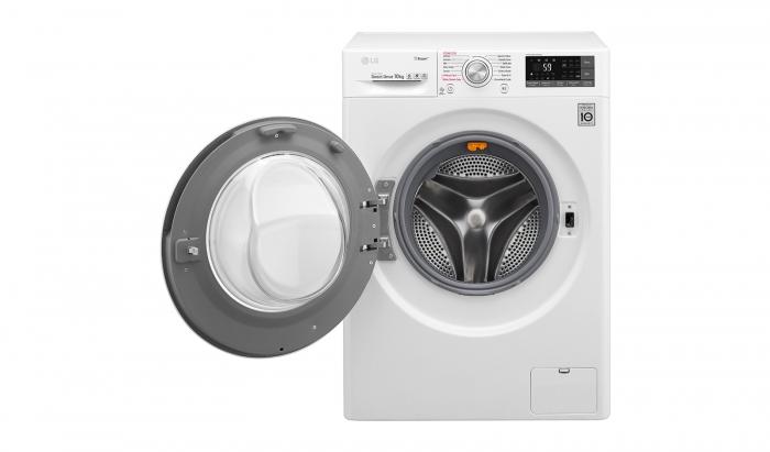 Masina de spalat rufe LG F4J7JY2W, 10 kg, 1400 RPM, Clasa A+++