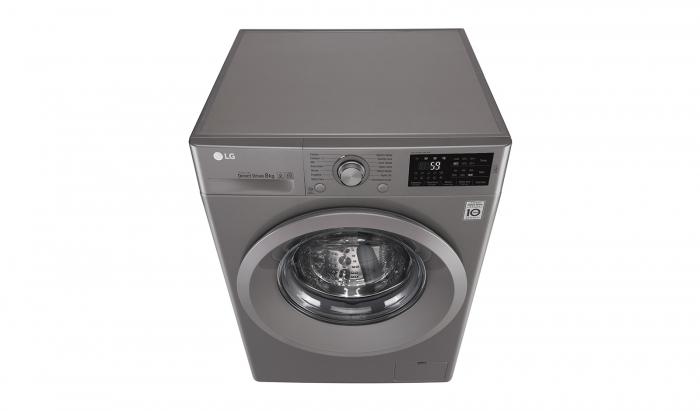 Masina de spalat rufe LG F4J5TN7S, Direct Drive, 8 kg, A+++, Argintiu