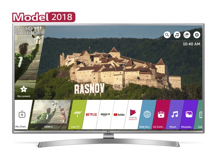 Televizor LED Smart LG, 177 cm, 70UK6950PLA, 4K Ultra HD